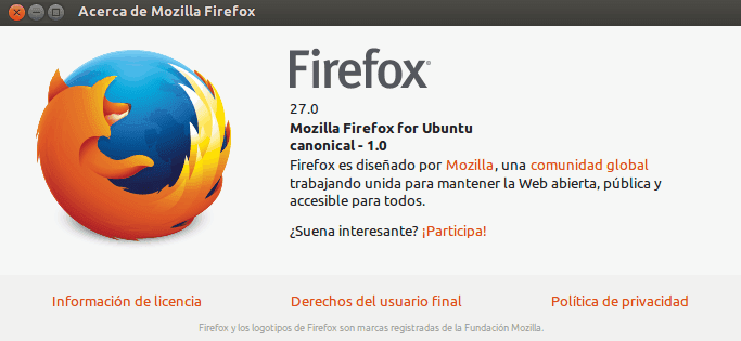 Firefox 27 ya esta disponible vía PPA security team Mozilla