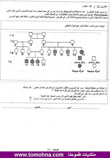 الاختبار الثاني في العلوم الطبيعية للسنة الثانية ثانوي علوم تجريبية - نموذج 2 - 1-2.jpg