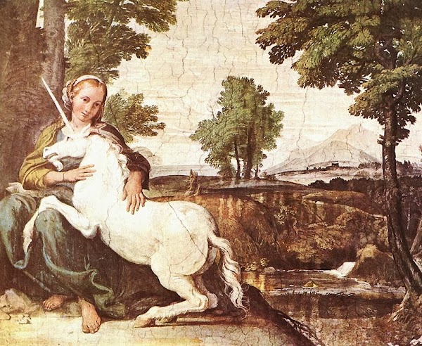 Domenichino - A Virgin with a Unicorn