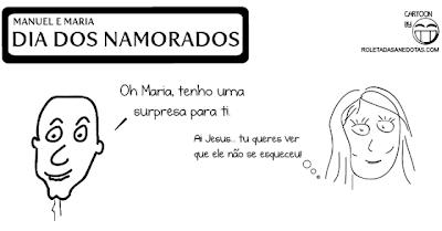 Dia dos Namorados - Cartoon Manuel e Maria