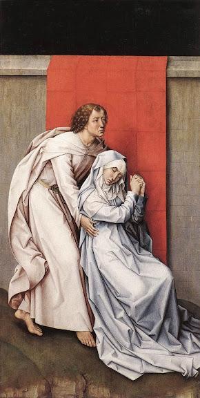 Rogier van der Weyden - Crucifixion Diptych (left panel)