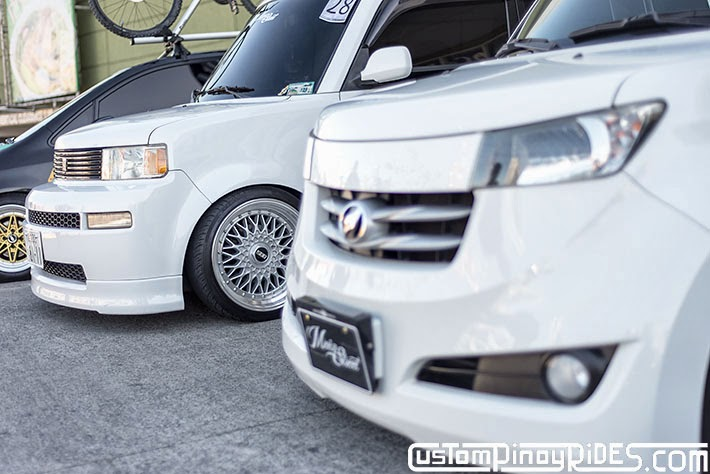 Slammed and Stanced Brothers Toyota bB1 and bB2 Custom Pinoy Rides Car Photography Manila Philippines Philip Aragones THE aSTIG pic3