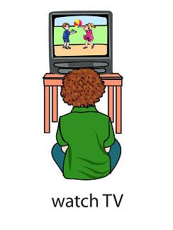 watch%2520TV%2520 %2520flashcard Verb flashcard