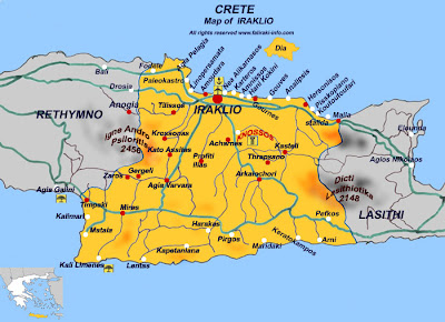 Heraklion Mapa