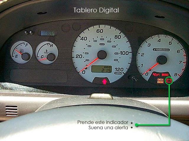 Tablero Digital que muestra la carga de la batería Autopartes Gonzalez