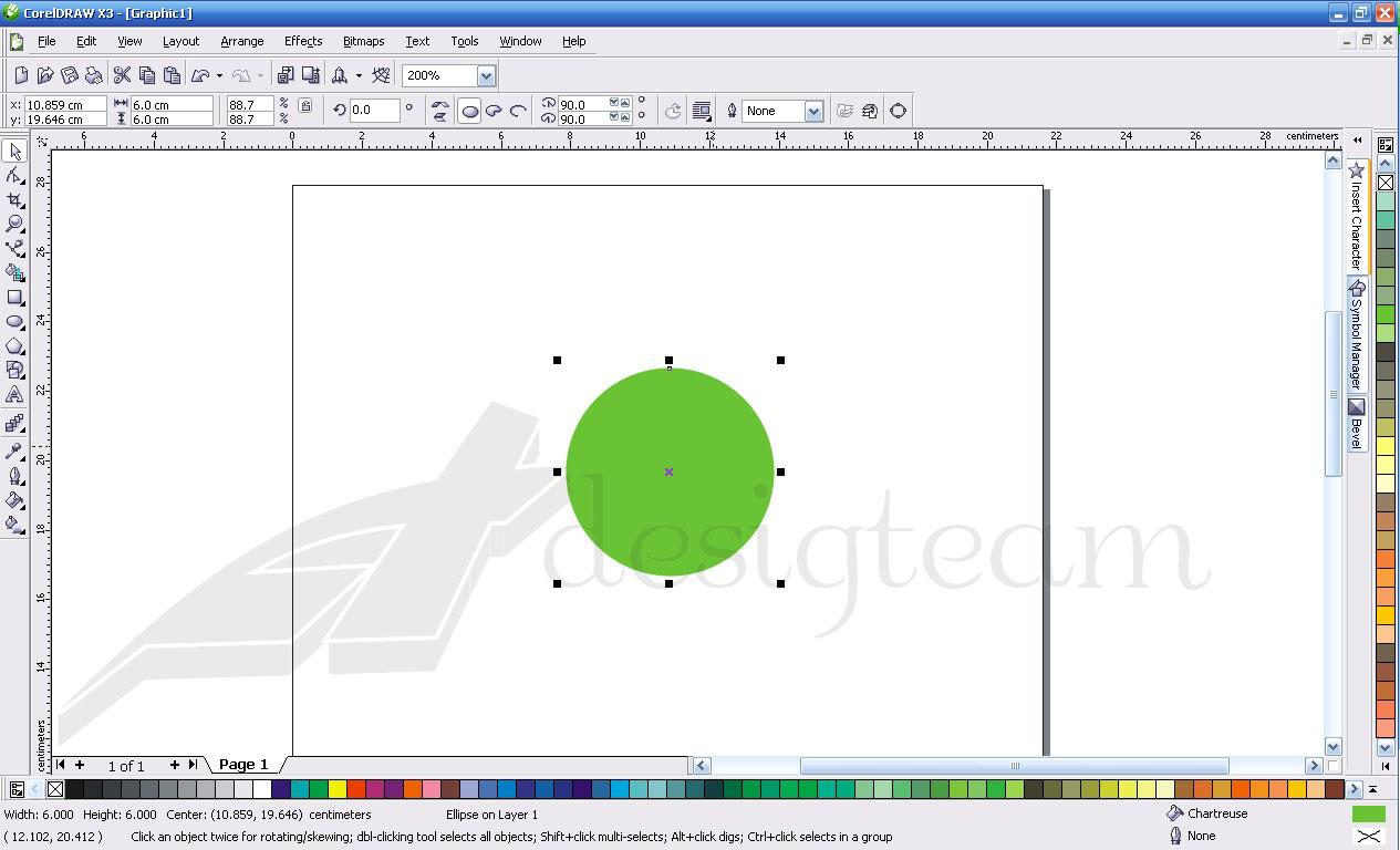 Membuat logo coreldraw X3 dengan corel