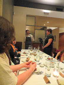 Chef Justin Woodward at Castagna and other Portland bloggers and Watershed Communications