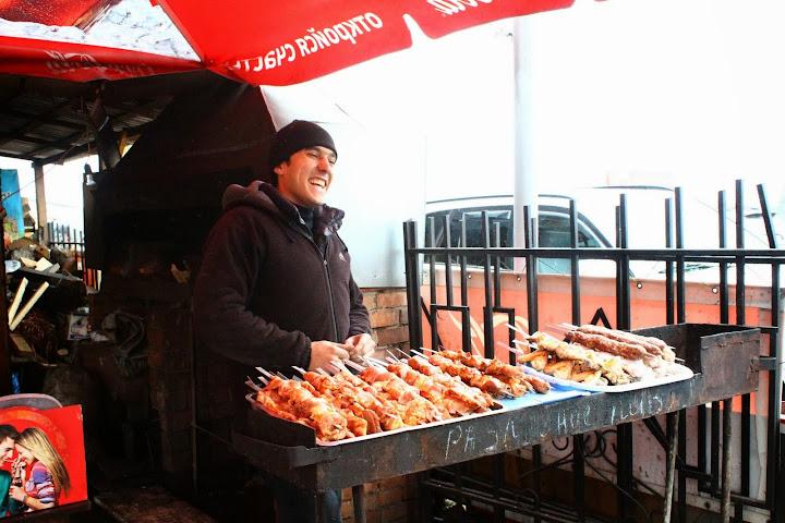 Kebab Seller - Listvyanka Fish Market Lake Baikal Russia