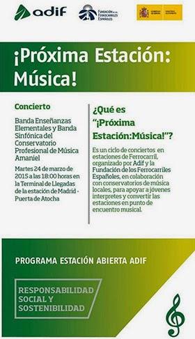 90 músicos inauguran en Atocha la II edición de 'Próxima estación: Música'