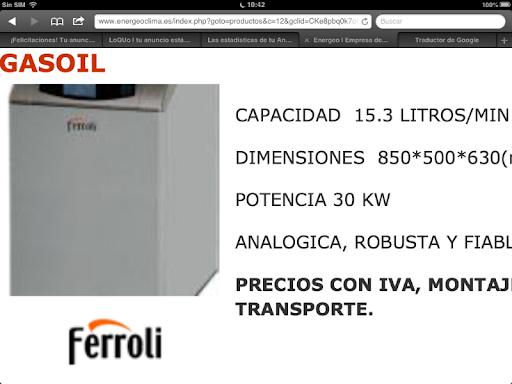 CAMBIAR CALDERA VIEJA DE GASOIL POR UNA
