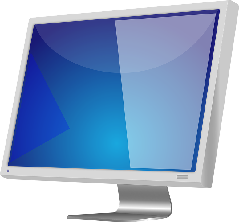 ... computer screen isolated