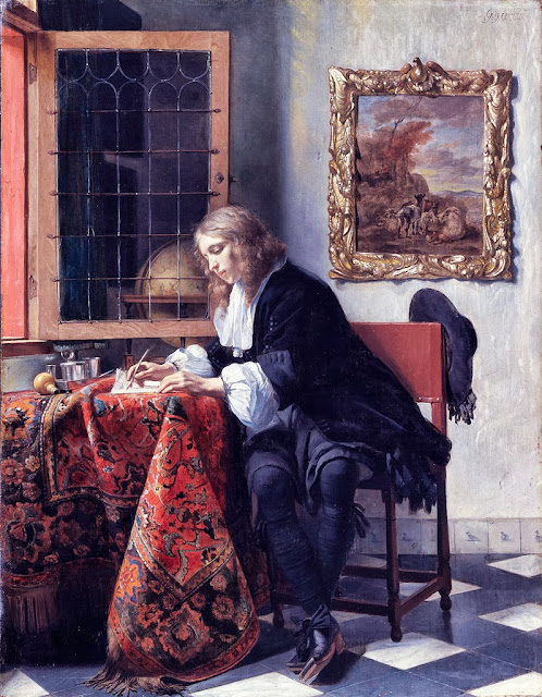 Gabriel Metsu - Man Writing a Letter