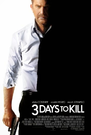 Poster Of 3 Days to Kill (2014) Full Movie Hindi Dubbed Free Download Watch Online At alldownloads4u.com
