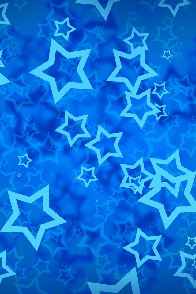 Star on Blue Backgrounds For iPhone4