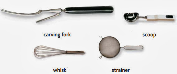 carving fork, scoop, whisk, strainer