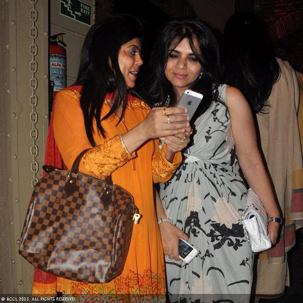 Reenu Sharma and Rooma Sekhri during Vani Tripathi's birthday bash, held in Delhi.