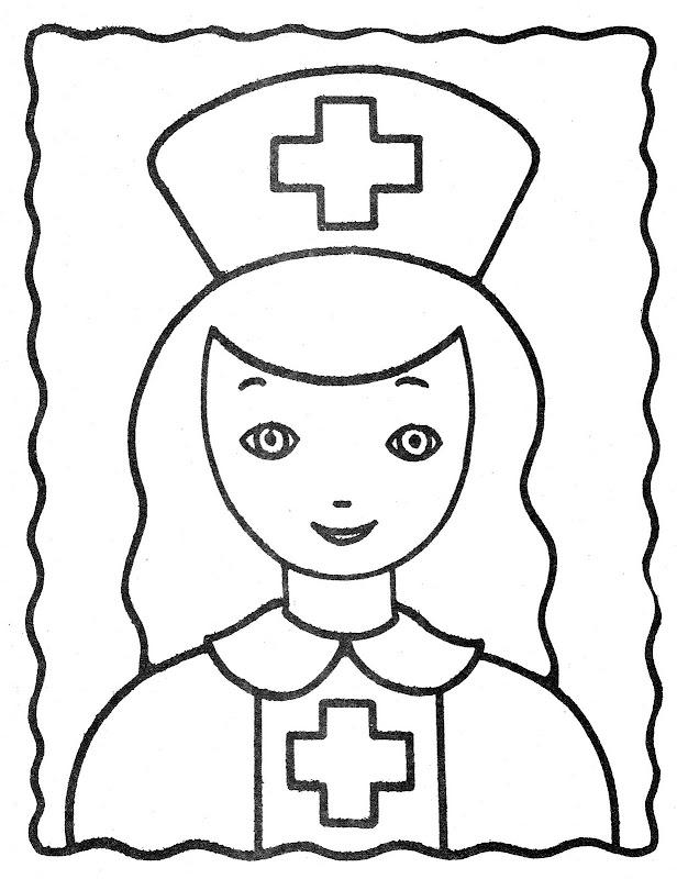 Dibujo de enfermera para colorear