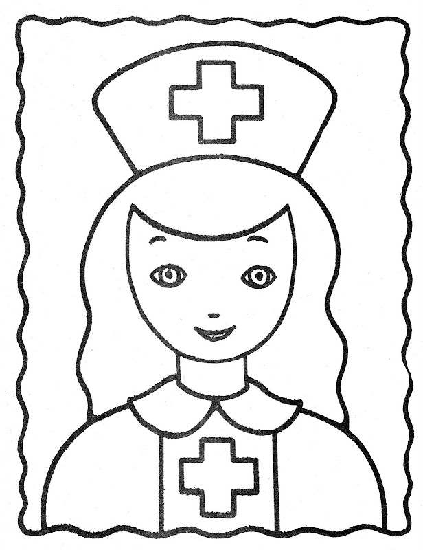 Pinto Dibujos: Dibujo de enfermera para colorear