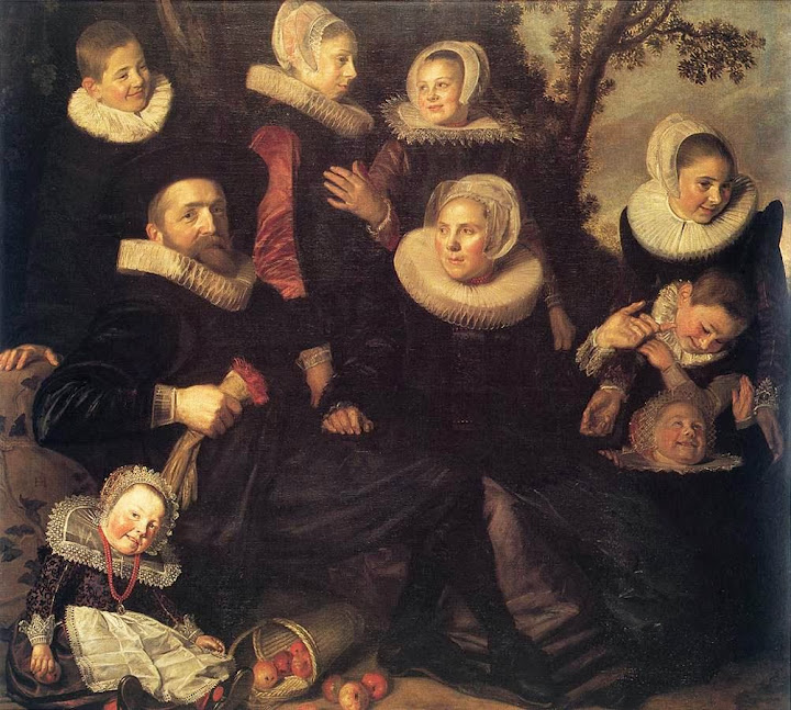 Frans Hals - Family Portrait in a Landscape