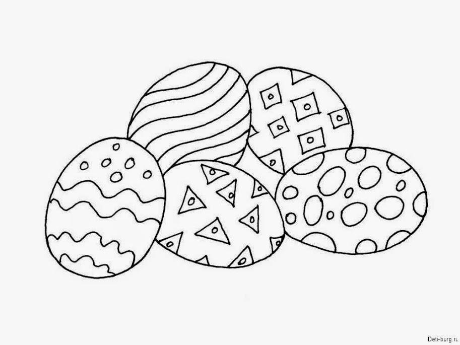 детские раскраски на пасху
