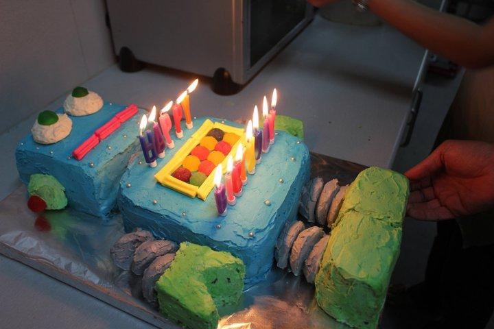 Marvelous Tender Loving Care Birthday Robot Cake Personalised Birthday Cards Epsylily Jamesorg