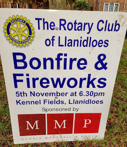 Llanidloes bonfire and fireworks display