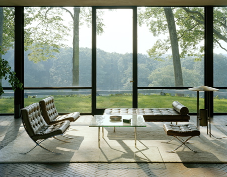 Mies Van Der Rohe Glass House Living Room
