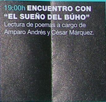 Lectura de poemas de Amparo Andrés y César Márquez