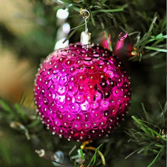 Bola lantejoula Natal