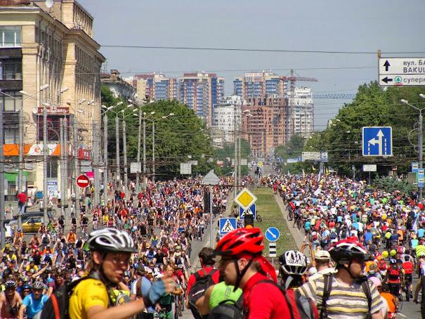 велоколона Проспект Ленина
