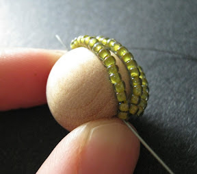 Stitching a Bead Covered Bead