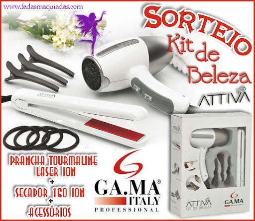 Sorteio Kit Beleza Attiva GA.MA Italy