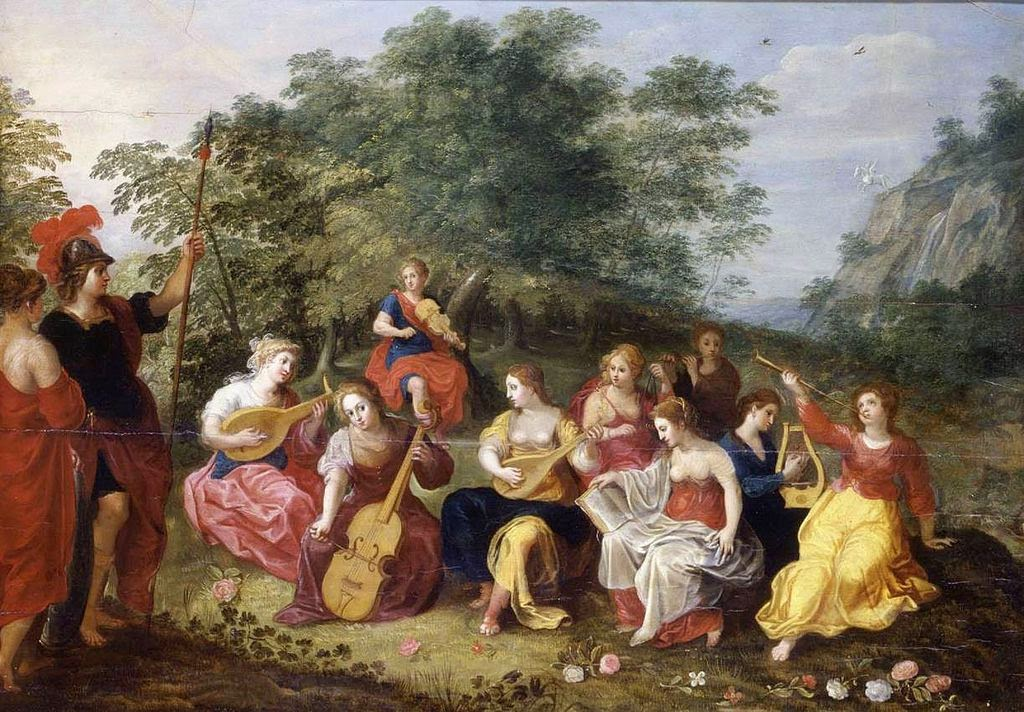 Hendrick van Balen - Minerva and the Nine Muses
