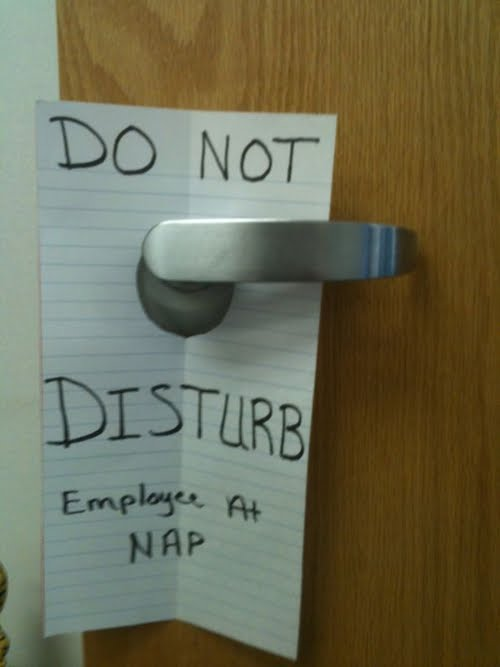 do not disturb in office i'm sleeping