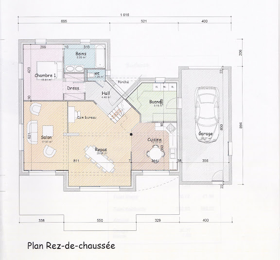 Projet maison 150m jaguar 36 messages for Plan maison sud est