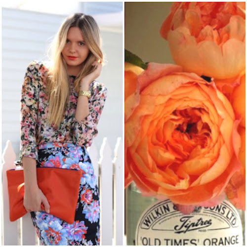 Fashion Tuula Blogger Style Tangerine Flowers