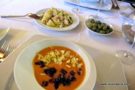 Menú degustación en el Restaurante Trafalgar de Jerez
