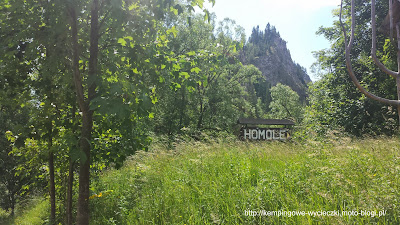 Na zdjęciu początek szlaku zielonego na Wysoką (Wysokie Skałki)