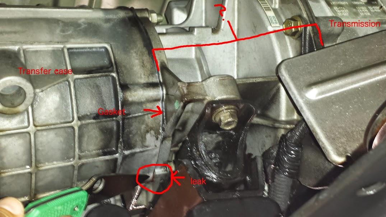 Transmission Leak -- rear of Trans - Diesel Place