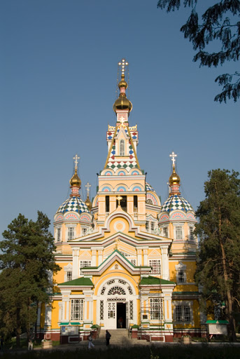 Holy Ascenion Cathedral, Almaty. From An Illustrated History of Kazakhstan: Asia's Heartland in Context
