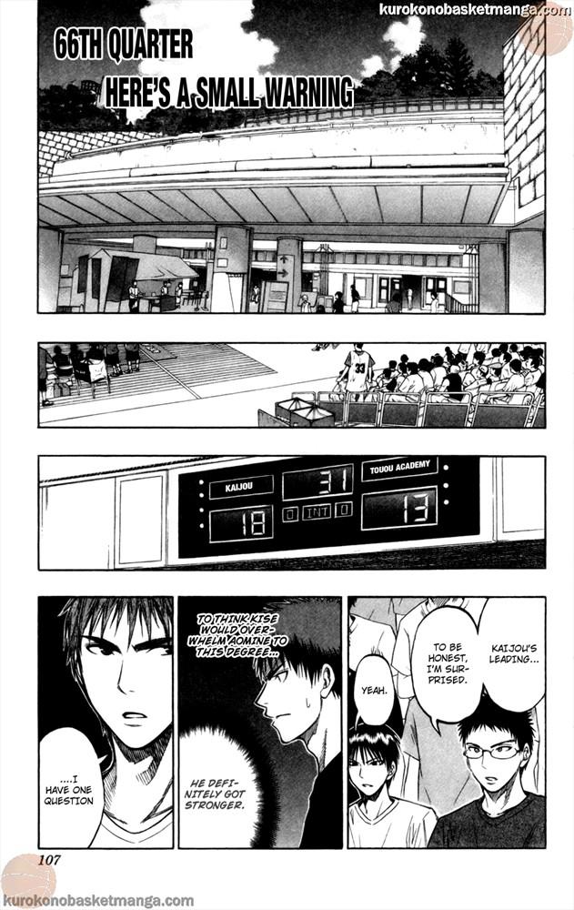 Kuroko no Basket Manga Chapter 66 - Image 1