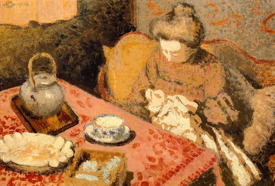 Georges Lemmen - Tea, Madame Gaorges Lemmen