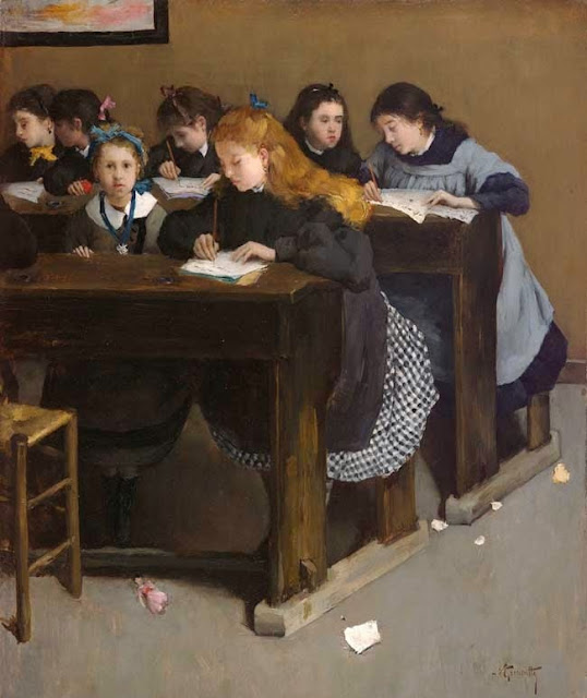 Norbert Goeneutte - The lesson