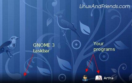 GNOME 3 taskbar