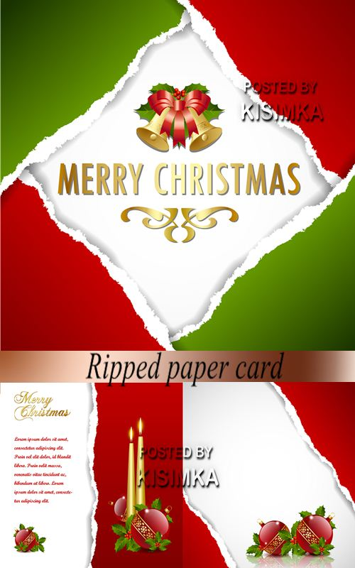 Stock: Ripped paper card