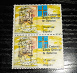 sellos VI centenar Principe Asturias