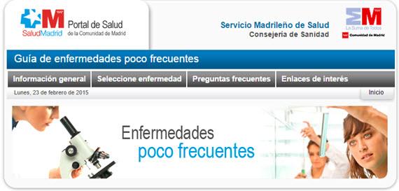Guía de enfermedades poco frecuentes de la Comunidad de Madrid