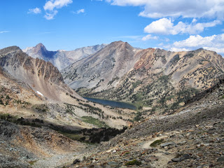 Summit Lake (10,200) in the distance, is our first goal. ©http://backpackthesierra.com