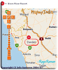 Dandeli map