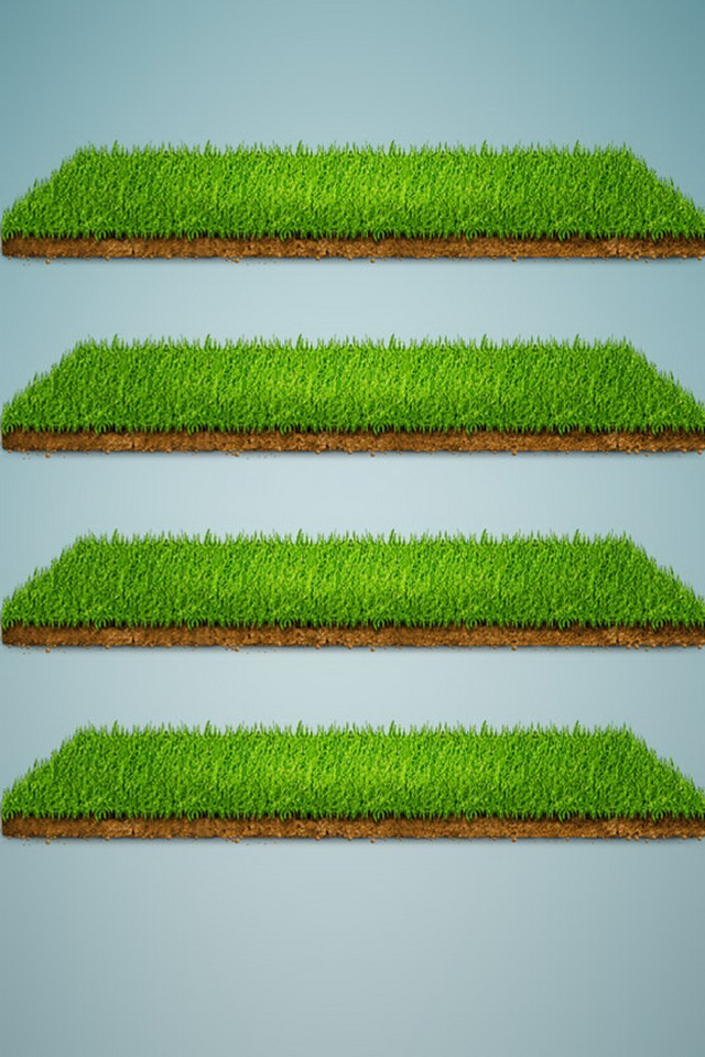 iPhone 4 Backgrounds HD Grass Shelf